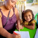 Chalice sponsored children write letters to their sponsors in Canada twice a year. Children always look forward to sharing news about their lives and drawing pictures for their beloved sponsors!When children are too young to write on their own, parents or site staff help dictate a legible letter. This little girl from our Chiclayo site is getting some assistance with her letter from her mom! Spanish is the most common spoken language at our Chiclayo site, so site staff translate letters for sponsors in Canada. What a wonderful effort all around to ensure that sponsored friends can have a special connection from countries apart!