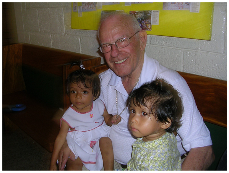 "Père Armand, or Padre Armando as he's known in Guatemala, passed away this past Wednesday. He spent 10+ years as a missionary priest in Champerico, Guatemala. When he returned to Quebec, he started ""La Fondation du Père Armand"" (aka ""FAPAG"") to raise funds to support a nutrition clinic run by the Sisters in Champerico (The Capuchin Tertiary Sisters of the Holy Family).  Pere Armand and FAPAG were also instrumental in opening Chalice's Luis Amigo sponsor site there, which is run by the same Capuchin Sisters.  As remembered by MaryAnne and Douglas, members of our International Team who knew him well: ""He was a kind and good servant"" and one ""who dedicated his life to help the poor and his efforts have positively so affected many in Guatemala!"" May he experience everlasting joy with our Lord :dove_of_peace: :heart:  Please join us in praying for his soul, and for all who are missing him :pray:More about Père Armand and the work of the Foundation in Guatemala: http://www.fapag.org"